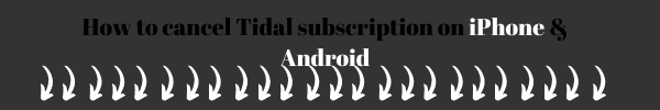 how to cancel tidal subscription on iphone and android
