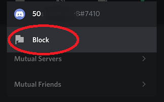how to block people on discord with smarpthone step 4