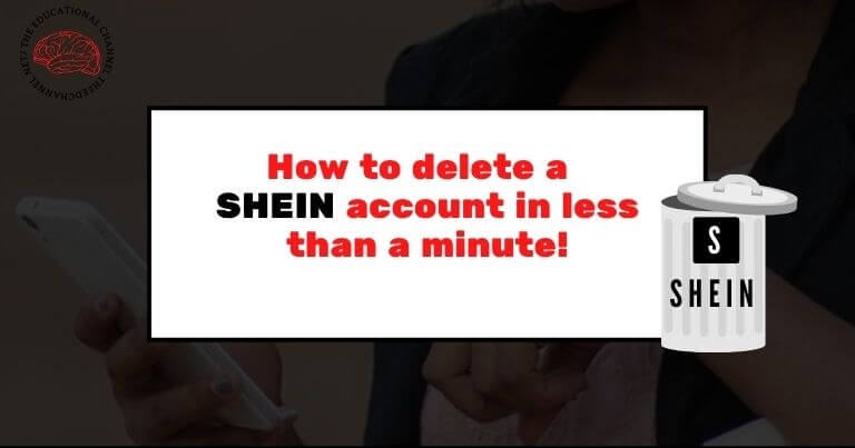 How to delete shein account iin less than a minute!