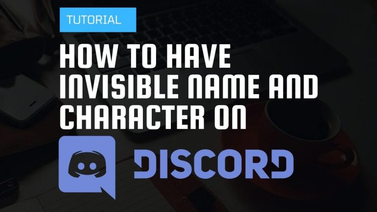 How to have invisible name and character on discord