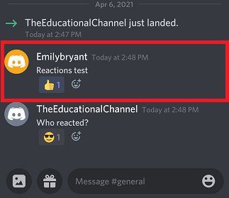 how to see who reacted on discord mobile app step 3