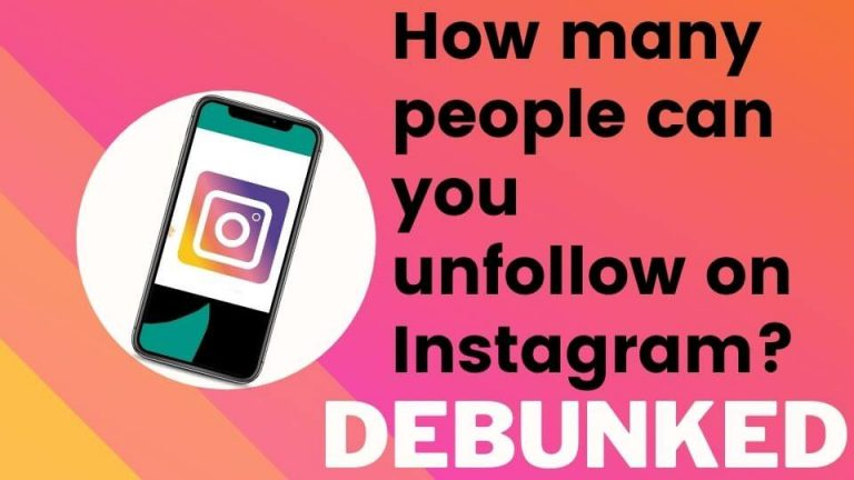 how many people can you unfollow on instagram? DEBUNKED