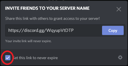 how to make a permanent discord link on desktop app step 4