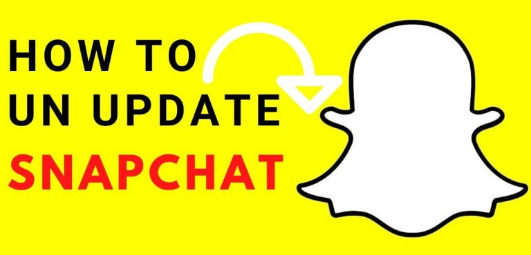 how to un update snapchat