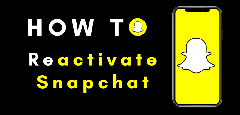 How to reactivate snapchat account