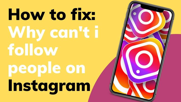 How to fix.why can't i follow people on instagram